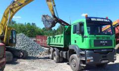 transport betonu kruszonego mielonego