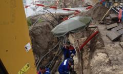 wykop pod kable elekryczne i światlowody